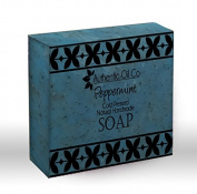Peppermint oil traditional cold pressed handmade soap