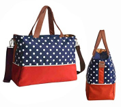 Allis 5PCs New Baby Changing Bag Nappy Bag - Blue/ Red