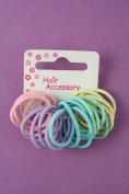20 Girls Pastel Small Thin Hair Elastics IN8145