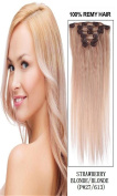 60cm 7pcs Silky Straight Full Head Remy Clip In Human Hair Extensions 80g/set #27/613 blonde mixed