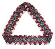 WigsPedia Native American Pattern Handmade Elastic Stretch Seed Beaded Headband Hair Accessories