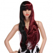 WELLKAGE Long Straight Bangs wigs