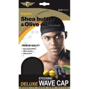 Healthy Treated Wave Deluxe Stocking Wave Cap Black (3 Pack) $7.99