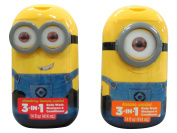 Despicable Me Minion 3-in-1 Bodywash Shampoo & Conditioner Strawberry Banana and Banana Scented Two 410ml Bottles