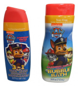Nickelodeon Paw Patrol Bubble Bath and 3-in-1 Body Wash, Shampoo and Conditioner