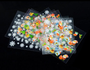 12 Sheet Christmas Snowflake Tree 3D Nail Art Sticker Decal Tips Decoration