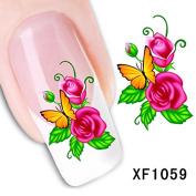Dalin 3D Nail Art Tips Stickers False Flower Nail Design Manicure Decals Nail Art Water Nail Art Decal / Tattoo / Sticker XF1059