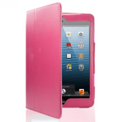 Apple iPAD 2nd 3rd 4th GEN Generation Hot Pink Book Style Wallet Folio Case Cover Pu Leather Magnetic Stand View with Built in Magnet for Sleep / Wake Plus Free Screen Protector & Screen Polishing Cloth