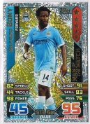 Match Attax 2015/2016 Wilfried Bony Man Of The Match Trading Card 15/16