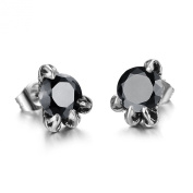 ONEWORLD Women Titanium Stainless Steel-Natural Shell Anti-Allergy Stud Earrings Rhinestone Inlay/Dragon Claw Earrings Colour Fading Proof