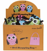 Twitt Twoo! Take Me With You! One Owl Fold Away Shopping Bag - Colour Sent At Random