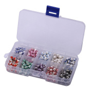 Creative Club Mixed Lot Hand Crafted Ceramic Loose Beads Flower Pattern 6mm Round Spacer Beads (1 box, 250pcs) cbr-co1