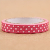 super thin pink dot paper mini deco tape by Prime Nakamura