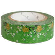 SEAL-DO Green Flower - Washi Tape - Made in Japan