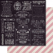 Bella! Baby Girl Double-Sided Cardstock 30cm x 30cm -Joy