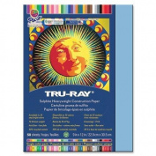 Tru-Ray Construction Paper, 34kg., 23cm x 30cm , 50/PK, Sky Blue