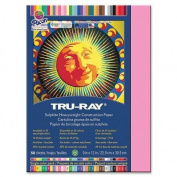 Tru-Ray Construction Paper, 34kg., 23cm x 30cm , 50/PK, Shocking Pink