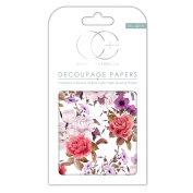 Craft Consortium Decoupage Printed Paper Pack of 3 - CP231 Vintage Bouquet