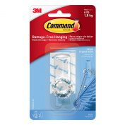 3M Command 17096CLR-ES Clear Large Crystal Hook, 1-Hook, 2-Strips