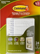 Command Picture and Frame Hanging Strips, Large (24 pairs), Model