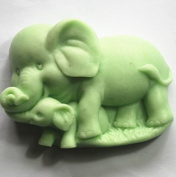Longzang Elephant Mould S348 Craft Art Silicone Soap Mould Craft Moulds DIY Handmade Candle Moulds