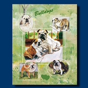 BULLDOG Gift Bag-large-By Best Friends by Ruth
