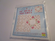 Stamped Cross Stitch 46cm Quilt Squares ... Pattern 266 Interlocking XXX Colonial Rose ... Six 46cm x 46cm Quilt Squares ... Great For Wall Hanging