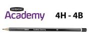 Derwent Academy Stripes Graphite Sketching Pencils | Full Range 4H - 4B