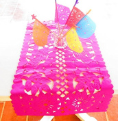 Mexican Wedding Decoration, Pink Table Runner, Papel Picado, Fiesta Party, Mexican Style Ceremony, Tissue Paper, Hand-crafted, Birthday Party Kids