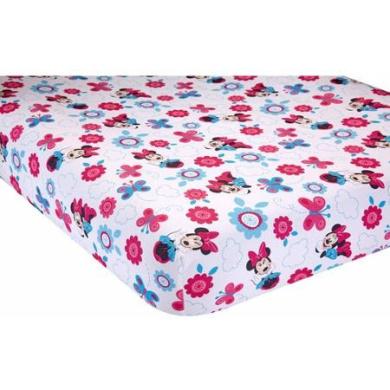 Disney Minnie Mouse Happy Day Crib Sheet