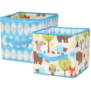 Little Bedding by Nojo Woodlands Collapsible Storage Bin, 2-Pack