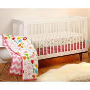 Pinwheel Sweet Tweet 3-Piece Crib Bedding Set