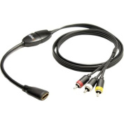 iSimple ISHD01 MediaLinx HDMI-to-Composite RCA A/V Cable, 1.2m