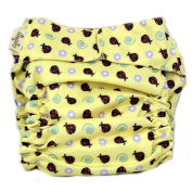 CuteyBaby All-in-One Nappy - One Size Fits All - Ladybugs