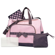 Baby Essentials 4 in 1 Duffle Nappy Bag - Pink