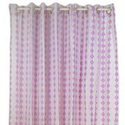 Pam Grace Creations Lovebird Lavender Shower Curtain