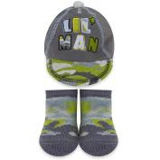 Baby Essentials Lil Man Cap and Sock Set - Camo