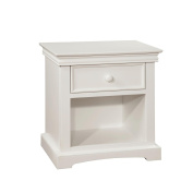 Bolton Furniture Cambridge 1 Drawer Nightstand-White
