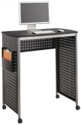 Safco Products 1908BL Scoot Stand Up Computer Workstation Desk with File Pocket, Black