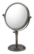 Mirror Image 81715 Classic Adjustable Vanity Mirror, 20cm Diameter, 1X and 5X Magnification, Italian Bronze by Kimball & Young