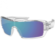 Bobster Paragon Sunglasses, Crystal Clear/Blue Mirror Lenses