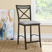 Devon Crossback Counter-Height Dining Chair, Grey