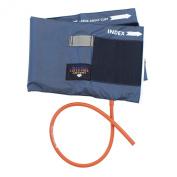 Latex Free One Tube Blue Nylon Cuff and Bladder - Large Adult