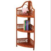 3-Tier Corner Wicker Shelf by WalterDrake