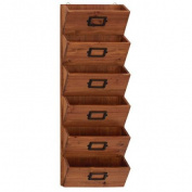 BENZARA 58613 Contemporary Styled Fancy Wood Wall Letter Holder
