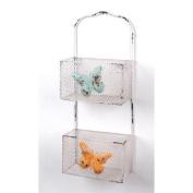 Wilco 2-Tier Butterfly Metal Wall Basket