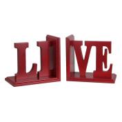 Privilege International Live Wood Bookend - Set of 2