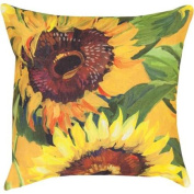 46cm Vibrant Sunflowers Decorative Indoor or Outdoor Throw Pillow