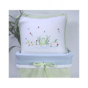 Brandee Danielle Sammy The Frog Decorator Cotton Throw Pillow
