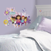Room Mates Popular Characters Dora and Friends Peel and Stick Wall Graphic Giant Wall Decal